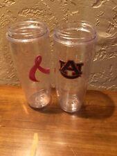 2 Tervis 24 Oz No Lids Breast Cancer Auburn
