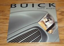 Original 2003 Buick Regal Deluxe Sales Brochure 03