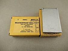 NOS Lot of 2 -- Hubbell WPFS-26 Weatherproof Wall Plates