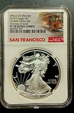 2018 S Limited Edition Set Proof Silver Eagle NGC PF70UC First Day of Issue