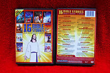 BRAND NEW/SEALED 16 BIBLE STORIES + SING-ALONG CD/ 2 DVD SET! +FAST SHIP! FAMILY