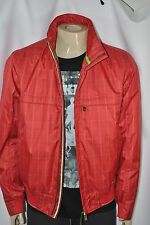 NEW MENS HUGO BOSS  'Jadon4'  by BOSS Green In Red windbreaker Jacket size L