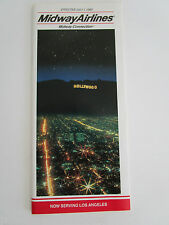Midway Airlines Airline Timetable Flight Schedule Flugplan Horaire JUL 1989 時刻表