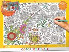 Jigsaw Puzzle Color Me Beautiful Garden 300 pieces NEW Paint it Stress Relief