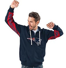 New England PATRIOTS Official NFL Hands High Game Day Fleece Hoodie Jacket~ 2X