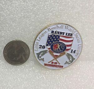 2014 Washington Little League Baseball District 10 Randy Lee Umpire Coin