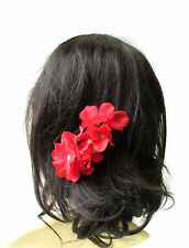 Large Red Hydrangea Flower Hair Pin Bridesmaid Blossom Headpiece Floral 1984
