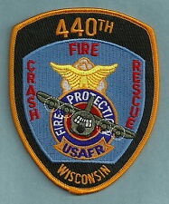 440TH U.S. AIR FORCE RESERVE BASE WISCONSIN FIRE RESCUE PATCH
