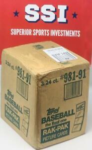 1991 Topps Rack Pack Baseball Case