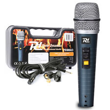 PD M663 Dynamic Vocal Microphone DJ PA speech wired Handheld Mic Case cable clip