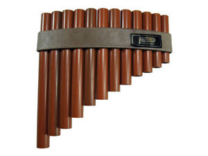 PAN FLUTE / PANPIPES 12 Hole Synthetic Wood Pipes Tunable Diatonic