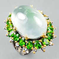 Unique Jewelry Natural Prehnite 925 Sterling Silver Ring Size 8/R122167