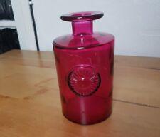 stained glass flower jar/bottle pink/purple