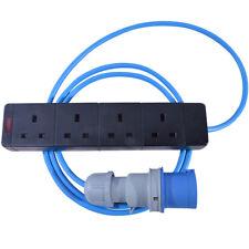 5m 16 AMP 240V Plug to 4 Gang 13 AMP UK Socket Extension Lead