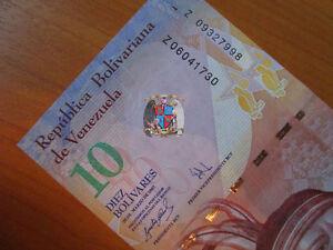 Venezuela. 2 replacement banknotes. (UNC) 10 bolivares 2007 and 2009
