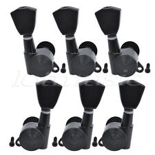 Guitar Tuning Pegs Keys Tuners Machine Heads for Electric Guitar Part Black 3L3R