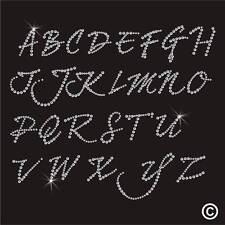 Lettre alphabet strass strass cristal motif Transfert Fer Sur hotfix gem