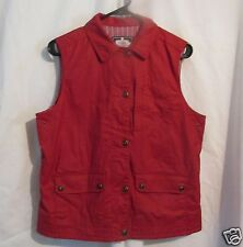 Ralph Lauren Red Vest Women  M  Naval Supply Co Nautical Button Front tin cloth