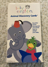 Disney BABY EINSTEIN Animal Discovery Flash Cards Preschool Early Learning HTF