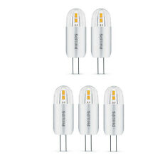 5 x Philips LED 2W - 20W G4 Capsule Light Bulbs A++ 200lm 12v Warm White 2700K