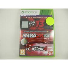 WWE 13 + NBA 2K13 + Top Spin 4 - Xbox 360 - Nuevo a Estrenar - 5026555262903 - N