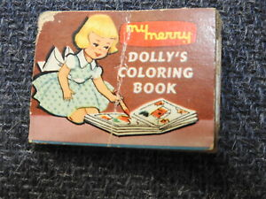 1950's Vintage MY MERRY DOLLY'S COLORING BOOK