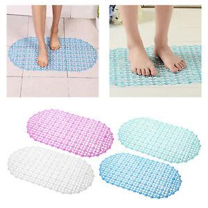 67x37cm Suction Cup Non-slip Bathroom Mat Safety Shower Bath Mat PVC Carpet