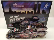 JOHN FORCE 2011 HONORING OUR HEROES GUN METAL 100 MADE NHRA FUNNY CAR 1/24 SCALE