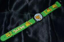 Green Pikachu Pokemon Go Wristwatch Wrist Watches Watch Kids & Teens Grass Leaf