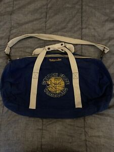 Rare Vintage Mitchell&Ness Golden State Warriors NBA Blue Duffle Bag 1990s
