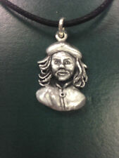PENDANT CHE GUEVARA BERRET ACTIVIST PEWTER NECKLACE HAND CRAFTED UK FINISH NEW
