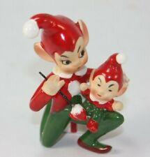 Josef Originals Christmas Figurine Elf Pixie Painting Baby Toy Vintage Japan