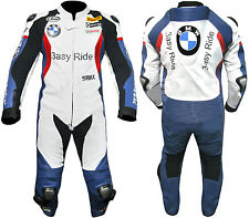 BMW Replica Easy Ride Motorcycle Leather 1 Piece Biker Suit with Hump Men XS-3XL