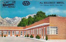 Provo Utah 1950s Postcard Hillcrest Motel