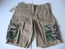 DENIM & SUPPLY RALPH LAUREN Men's Tan Flag-Pocket Cargo Shorts Sz 30