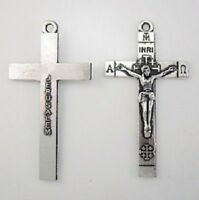 "925 silver 20"" necklace JESUS CRUCIFIX GOD HOLY CROSS pendant women men GIFT BOX"