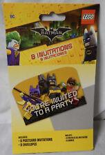 Lego Batman Party Invitations 8ct