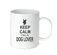 Coffee Cup Mug Travel 11 15 oz Keep Calm I'm A Dog Lover