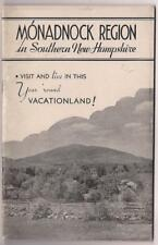 Southern New Hampshire~Vacation & Live Here~Peterboro~Jaffrey~Monadnock c1930 VG