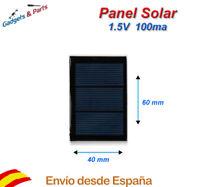 Panel Solar 1.5V 100mA 60x40 Placa Solar Celula Fotovoltaica Cargador