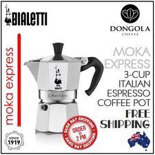 GENUINE BIALETTI 3 CUP MOKA EXPRESS Espresso Stovetop Coffee Maker Percolator
