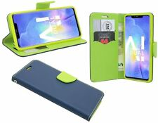 Book-Style Handy Hülle Tasche Zubehör in Blau für Huawei Mate 20 PRO @COF