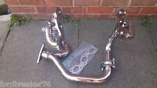 Mondeo/Contorno MK2 ST200, ST24, V6 MSDS Brilloso encabezado de acero inoxidable de 3 piezas conjunto