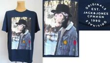 T-shirts bleus JACK & JONES pour homme