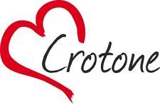 """Adesivo per auto """" CROTONE """" (Città) cuore Sticker ca.9x14 cm taglio contorno"""