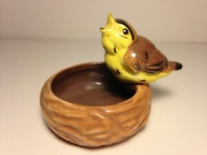 Rare Pennsbury Ashtray Brown Bird_XLNT_VTG Art Pottery Figurine After Stangl