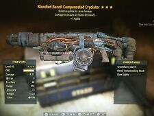 Bloodied Explosive Cryolater Fallout 76 PS4