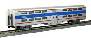 Kato 356038 Pullman Bi-Level Passenger Car 4-Window Coach Chicago Metra #7780 HO