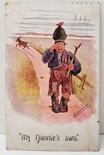 "Cynicus Comic ""My Nannie's Awa"" Crying Boy and His Goat Postcard C16"