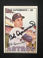 BOB ASPROMONTE 1967 TOPPS AUTOGRAPHED SIGNED AUTO BASEBALL CARD 274 ASTROS